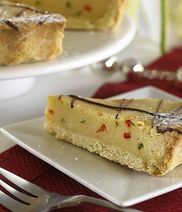 Exquisa lime pie with chili